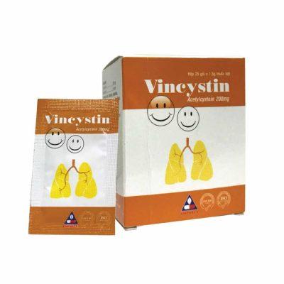 , Vincystin 200 (Acetylcystein 200 mg) – Thuốc tiêu chất nhầy